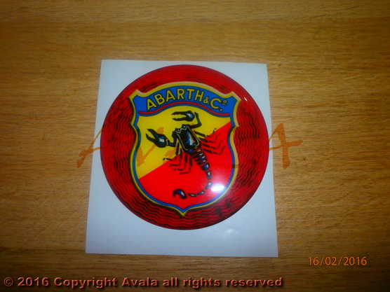 "Stiker 112mm ""Abarth"" (stari znak) *0903012*"
