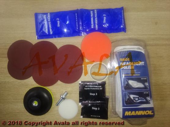 Pasta za poliranje plastičnih farova set *0903587*