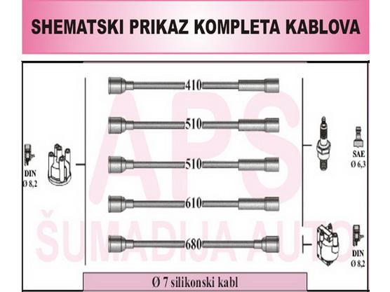 Kablovi za svećice silikonski *1001760*