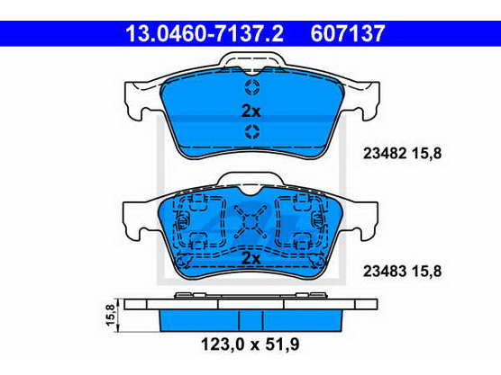 Brake pad set rear, disc brake *1804143*