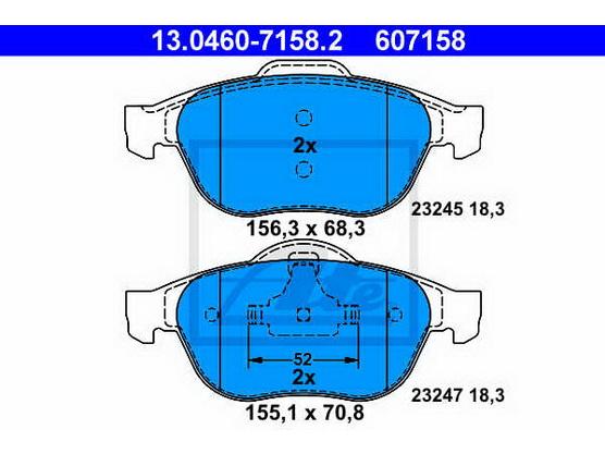 Brake pad set front, disc brake *1804144*