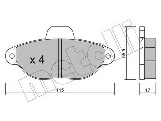 Disk pločice prednje  *2504311*