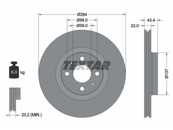 Disk točka prednji *2504409*