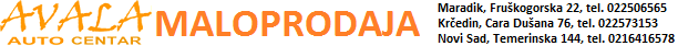 Avala - online prodavnica auto delova - Srbija
